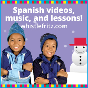 Teach Spanish to children with Whistlefritz songs and videos.