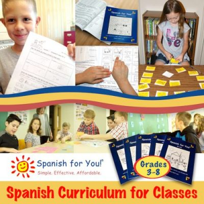 Spanish for You is an elementary Spanish curriculum for class or homeschool.