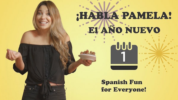 This kids learn Spanish video teachs New Year's traditions in Spanish speaking countries.