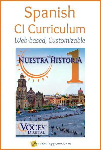 Nuestra Historia is a comprehensible input middle school and elementary Spanish curriculum.