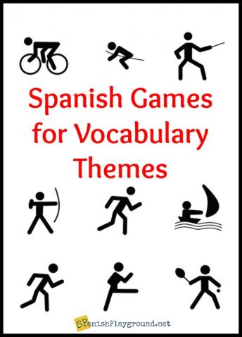 Playing Spanish vocabulary games children learn important words and social skills.