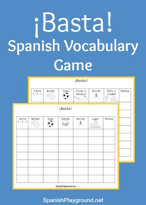 Basta is one of the traditional Spanish games you can easily adapt to classroom use.
