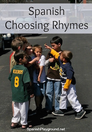 Rhyme is an important feature of traditional Spanish games.