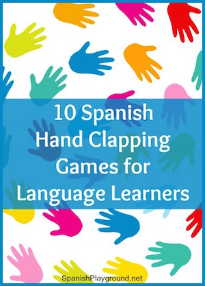 Traditional Spanish games like hand clapping rhythms use repetion and rhythm to enhance learning.