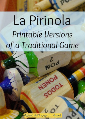 La pirinola is a traditional Mexican game also known as Toma todo.