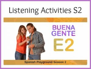 Listening activities for Spanish class for the video series Buena Gente.