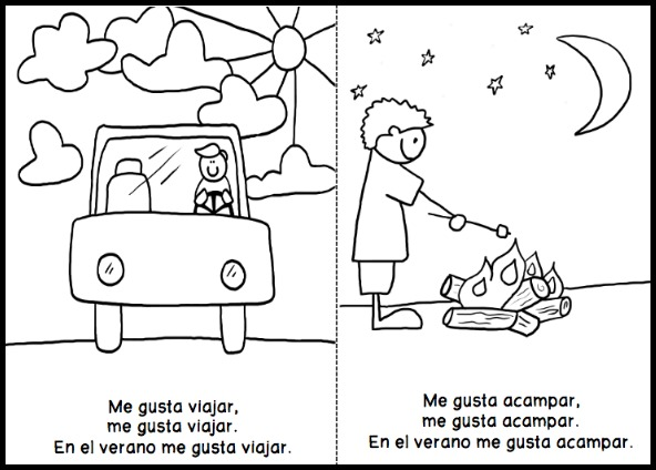 graphic relating to Printable Mini Booklets identify Cost-free Printable Spanish Guides for Small children - Spanish Playground