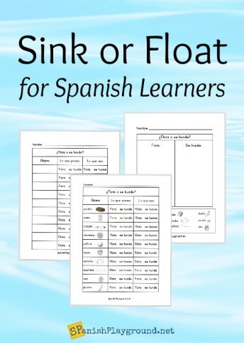 Sink or float in Spanish is an easy experiment with useful vocabulary.