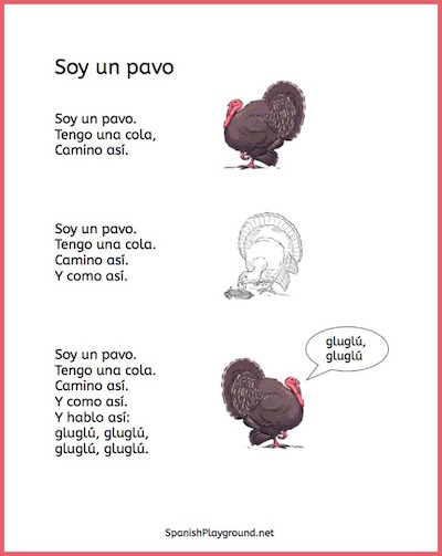 Spanish poems for kids teach vocabulary about seasons and holidays.