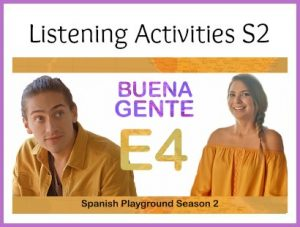 Listeing activities for the Spanish video series Buena Gente for class or home use.