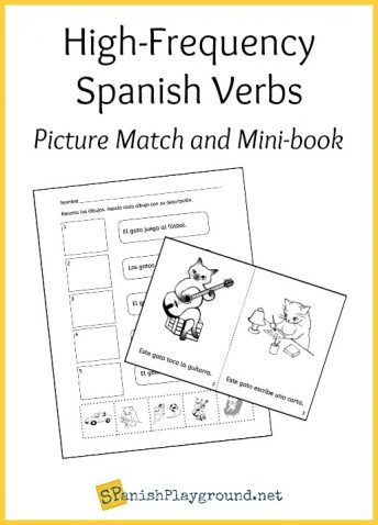 Use this picture match and minibook to learn common Spanish verbs.
