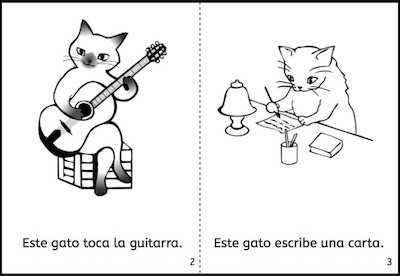 Read this printable mini-book to learn common Spanish verbs.
