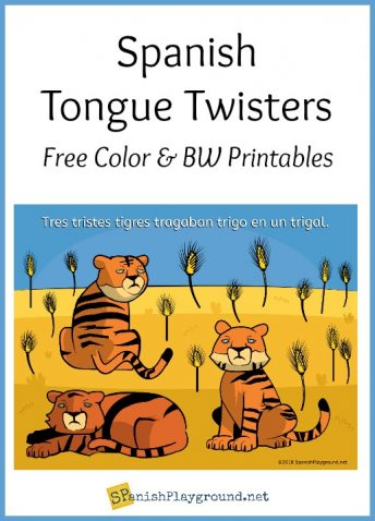 Spanish tongue twisters are fun pronunciation practice for kids.