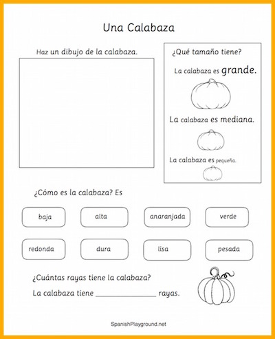 Students learn about pumpkins and other plants with these Spanish science lessons.