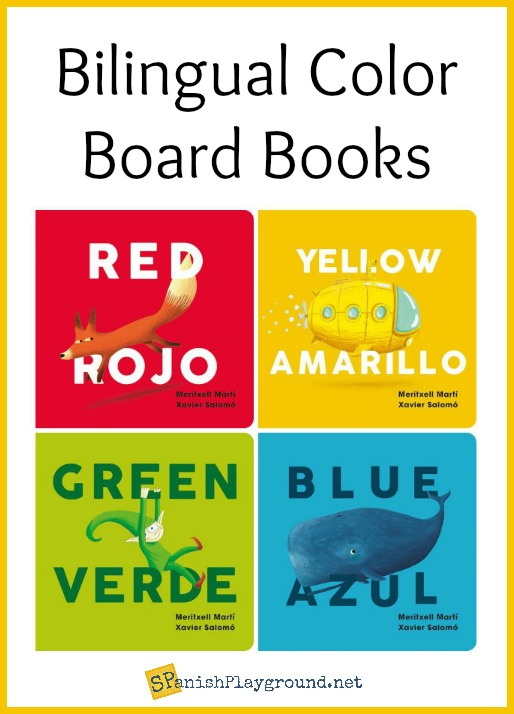 These bilingual color books are sturdy board books for little hands.
