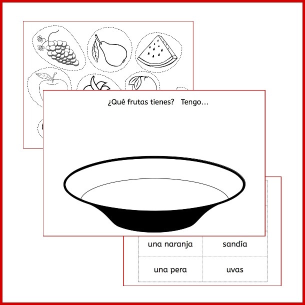 Use these printble pages, songs and videos to learn fruit in Spanish.
