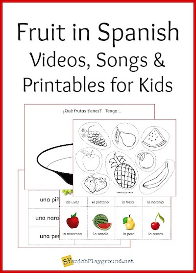 Use the activities to learn fruit in your Spanish lessons for kids.