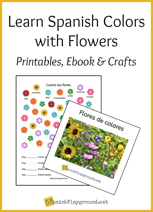These flower themed activities are a fun way to learn Spanish colors.