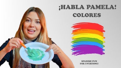 Kids lean colors and other Spanish words with this video.