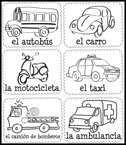 Try these songs, videos and pictures cards to learn transportation vocabulary.