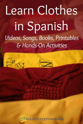 These activities introduce kids to words for clothes in Spanish in a natural context.
