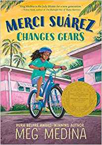 Merci Suarez Changes Gears is one of several award-winning diverse books for middle school.