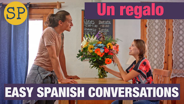 Spanish video lessons with common vocabulary and comprehensible input.