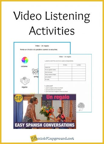 Use these listening comprehension activities for a video on saying thank you in Spanish.