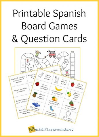 Engage kids with language with these 2 printable Spanish board games.