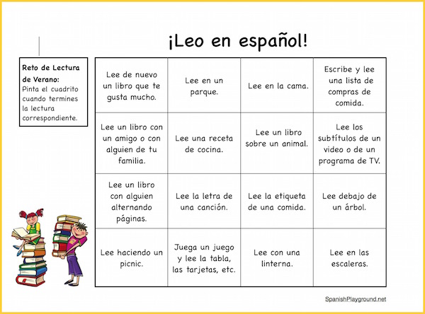 Use this challenge to encourage kids to read in Spanish.