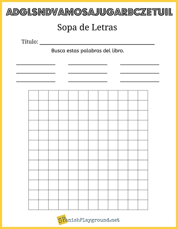 Making a word search is one way to engage Spanish learners with books.