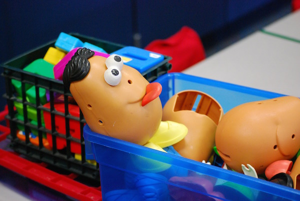 Mr. Potato Head is a good game for learning body parts.