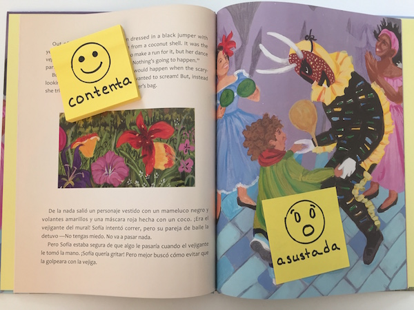 Book activities in Spanish can reinforce high-frequency vocabulary.