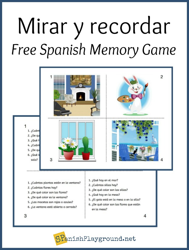 A Spanish memory game to learn vocabulary and structures.