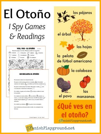 Use these games, readings and infographic to learn Spanish fall words.