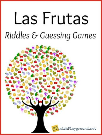 Adivinanzas de frutas are riddles about fruit perfect for kids learning Spanish.