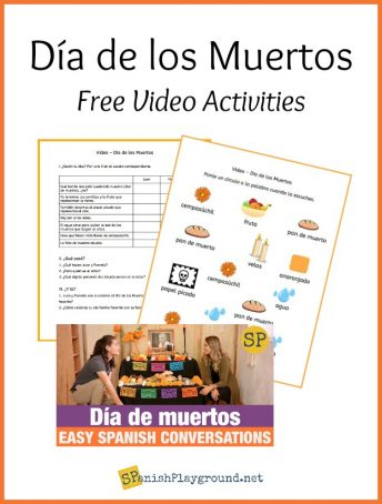 A set of listening activities for a Dia de Muertos video for Spanish learners.