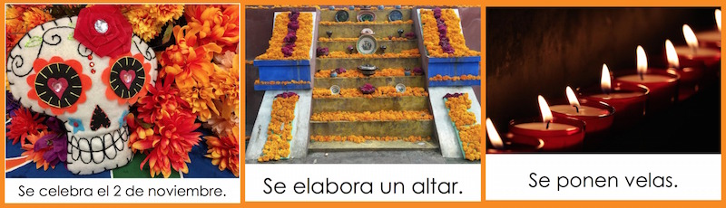 This Spanish e-book about Day of the Dead teachs key elements of the celebration.