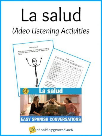 Learn Spanish health vocabulary with this video and these printable activities.