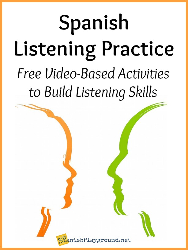 Spanish listening practice like these video-based activities develop comprehension skills.