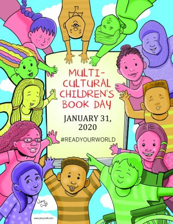 This is the official poster for Multicultural Children's Book Day.