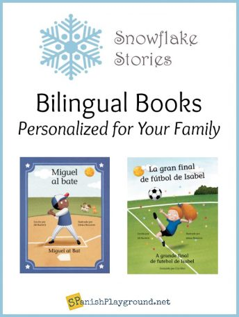 These are two of the titles of the personalized bilingual books available from Snowflake Stories.
