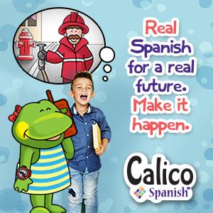 Kids learn Spanish with Calico Spanish.