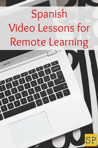 Use these Spanish video lessons for remote learning and online classes.