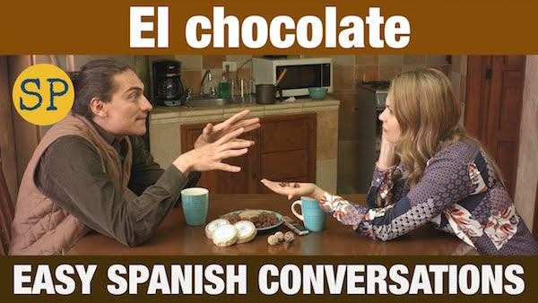Image of two actors from Spanish conversation videos about Mexican food and culture.