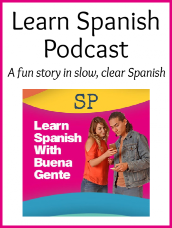 Image of the characters in the podcast to learn Spanish Buena Gente.