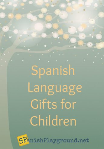 Image of holiday guide of Spanish language gifts for kids.