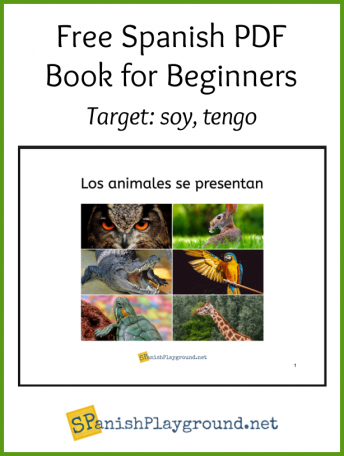 Cover of the free spanish pdf book showing the animals in the content.