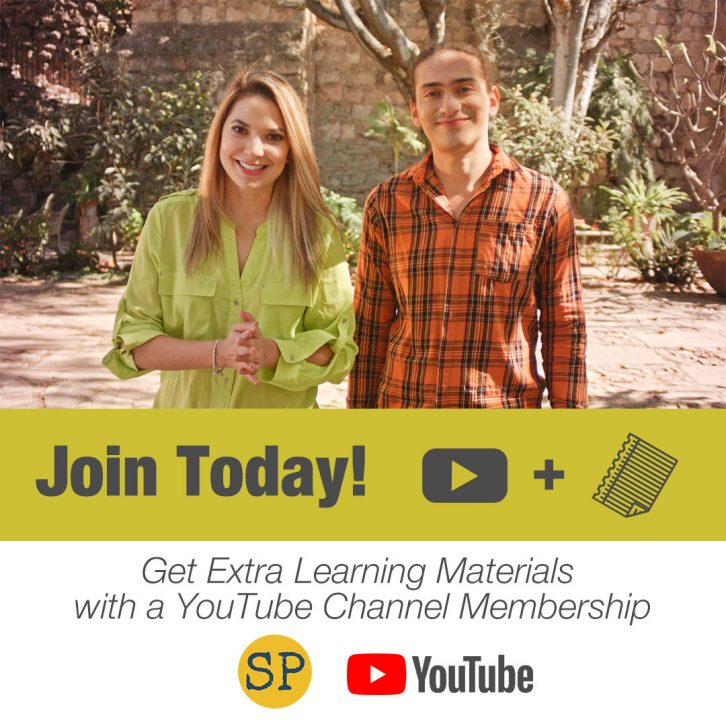 Image of the two actors in the videos for the Spanish Playground YouTube channel memberships.