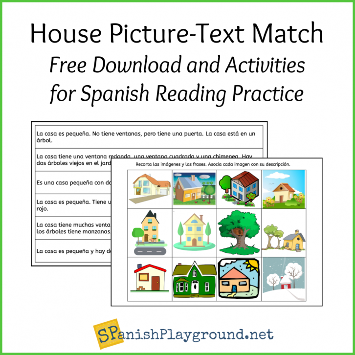 Image of picture-text Spanish reading practice for beginners
